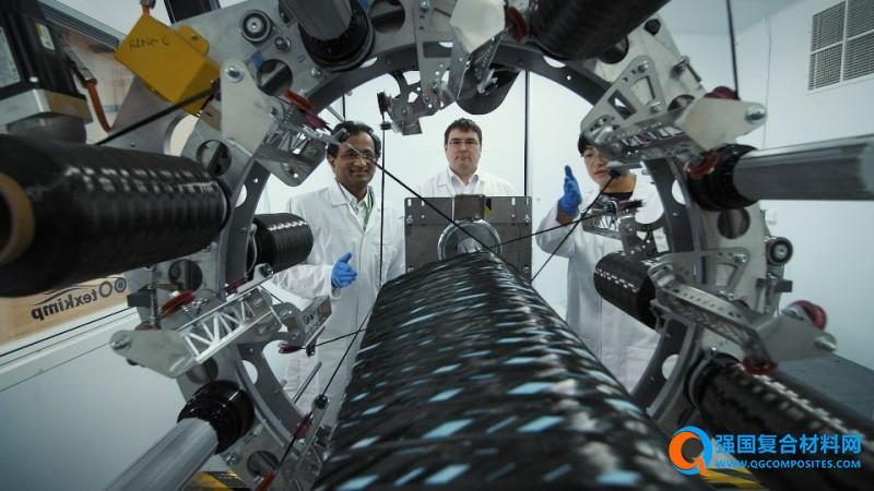 泰斯金普与曼彻斯特大学推出开创性3D缠绕技术 飞机翼梁缠绕仅需数分钟